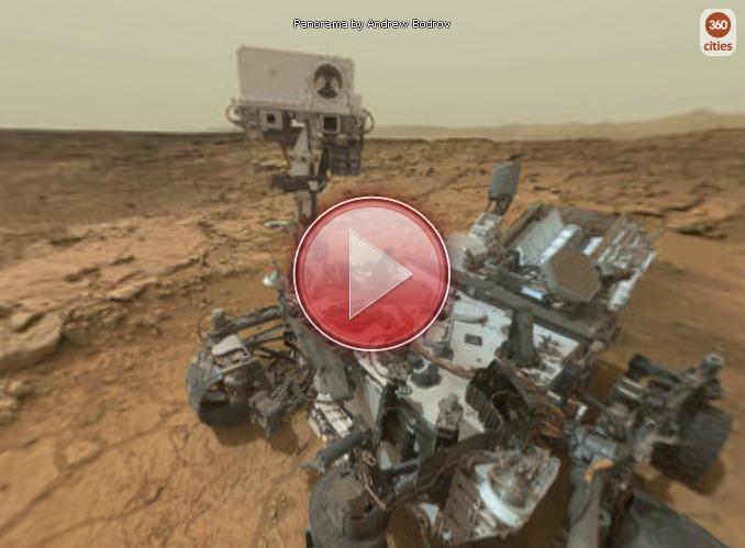 Curiosity. Марс. Отличная панорама с места событий. 177-ой марсианский день.